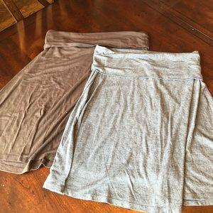 Set of comfy maternity skirts